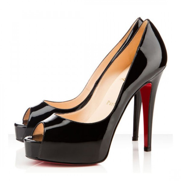 Christian Louboutin Hyper Prive 120mm Patent Pumps Black