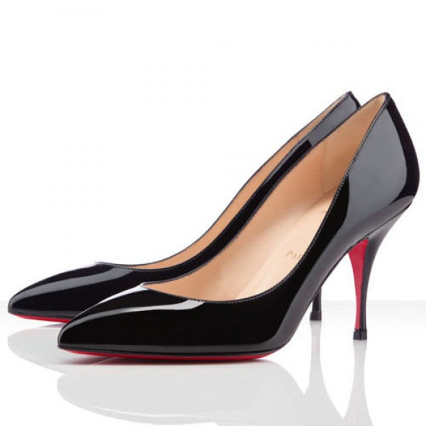 Christian Louboutin Pigalle Piou Piou 85mm Patent Pumps Black
