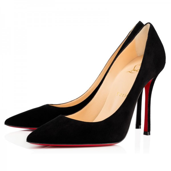 Christian Louboutin Decoltish 100mm Suede Black