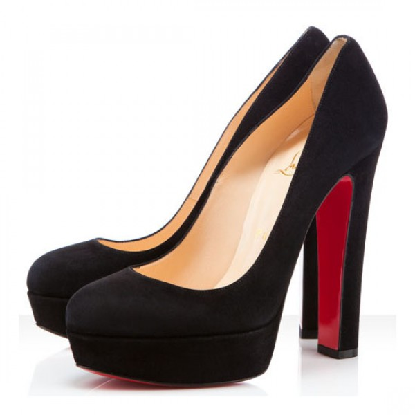 Christian Louboutin Bibi 140mm Suede Pumps Black