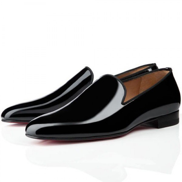 Men's Christian Louboutin Dandy Loafers Patent Black