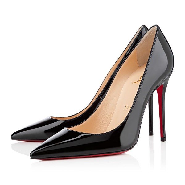Christian Louboutin Decollete 554 100mm Patent Black