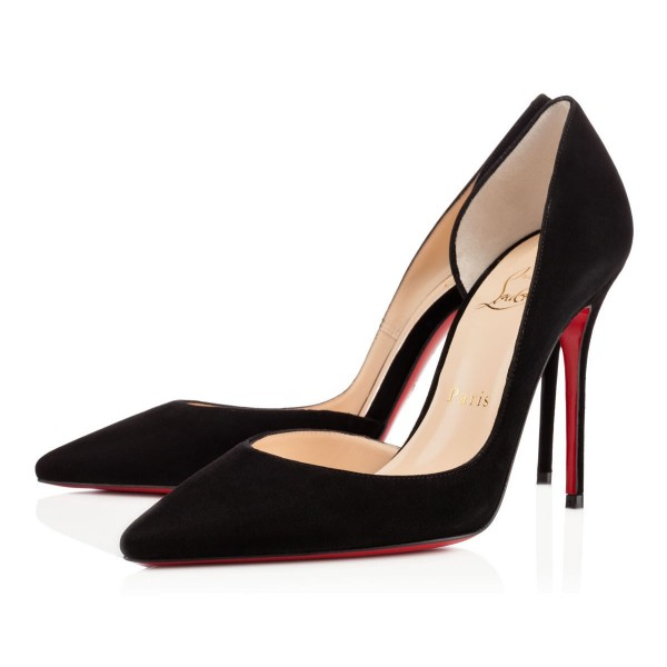 Christian Louboutin Iriza 100mm Suede Black