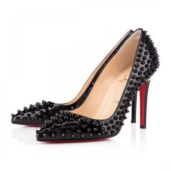 Christian Louboutin Pigalle Spikes 100mm Pumps Black