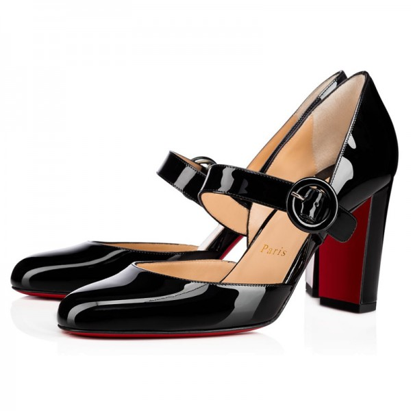 Christian Louboutin Miss Kawa 85mm Patent Black