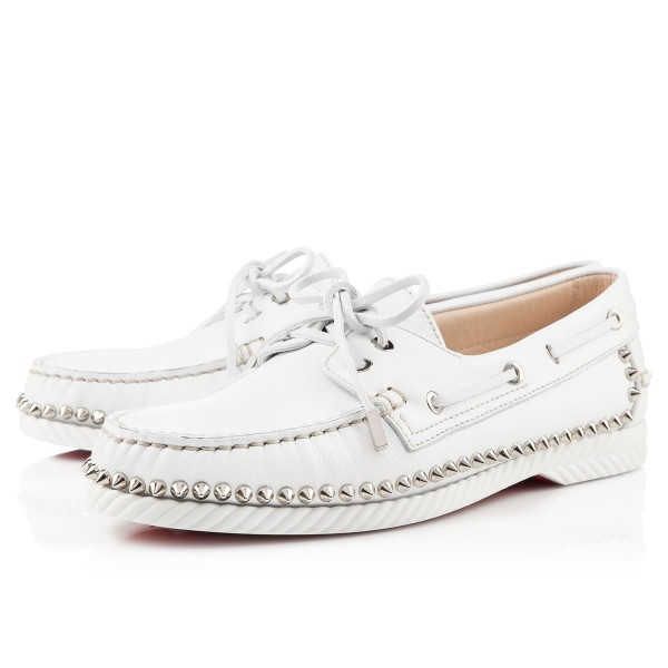 Christian Louboutin Steckel Loafers White
