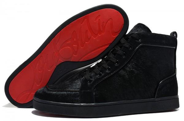 Men's Christian Louboutin Rantus Orlato High Top Sneakers Black