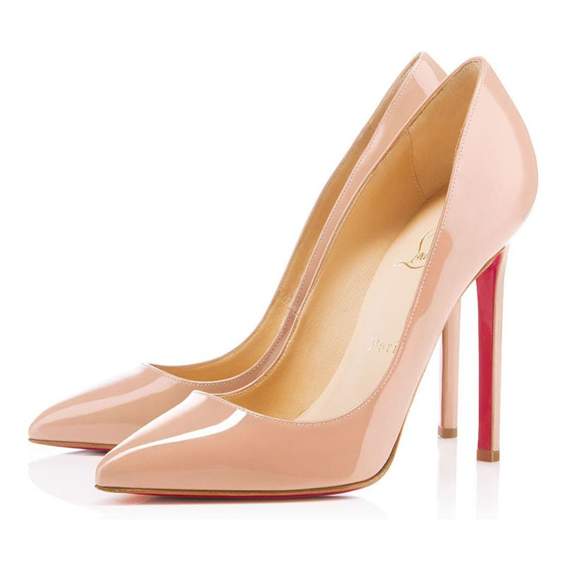 2019 Christian Louboutin Pigalle 120mm Nude Patent Leather