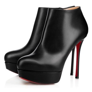 Christian Louboutin Dirdibootie 130mm Leather Black