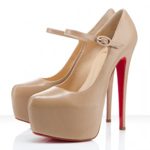 Christian Louboutin Lady Daffodile 160mm Mary Jane Nude