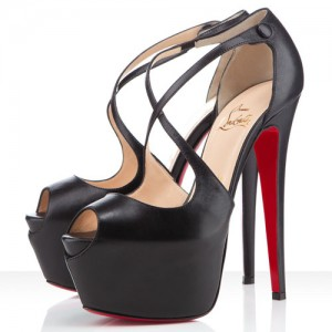 Christian Louboutin Exagona 160mm Leather Sandals Black