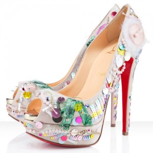 Christian Louboutin Make Up Trash 150mm Satin Pumps Beige