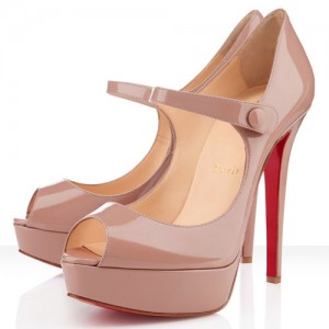 Christian Louboutin Bana 140mm Patent Pumps Nude
