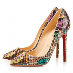 Christian Louboutin Pigalle 120mm Python Pumps Multicolor