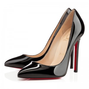 Christian Louboutin Pigalle 120 Patent Pumps Black