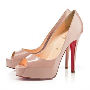 Christian Louboutin Hyper Prive 120mm Patent Pumps Nude