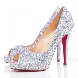 Christian Louboutin Very Riche 120mm Strass Aurora Boreale