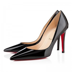 Christian Louboutin New Decoltissimo 100mm Patent Pumps Black