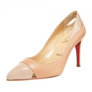 Christian Louboutin Pigalle Cutout 90mm Pumps Nude