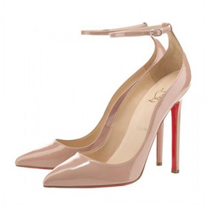 Christian Louboutin Halte 120 Pointed Toe Pumps Patent Nude