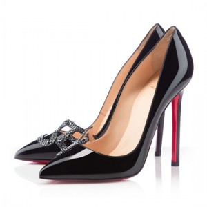 Christian Louboutin Pigalle Sex 120mm Patent Pumps Black