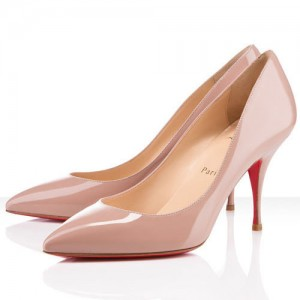 Christian Louboutin Pigalle Piou Piou 85mm Patent Pumps Nude