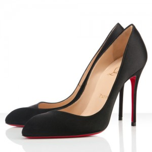 Christian Louboutin Pigalle Corneille 100mm Satin Pumps Black