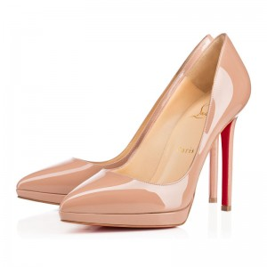 Christian Louboutin Pigalle Plato 120mm Patent Pumps Nude