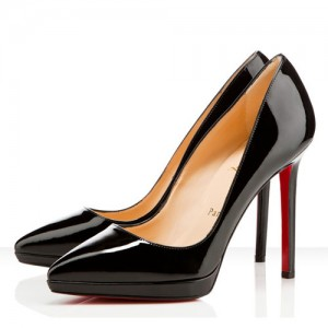 Christian Louboutin Pigalle Plato 120mm Patent Pumps Black