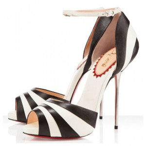 Christian Louboutin Armadillo Bride 120mm Sandals Black/Ivory