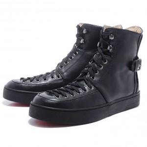 Men's Christian Louboutin Alfie High Top Sneakers Black