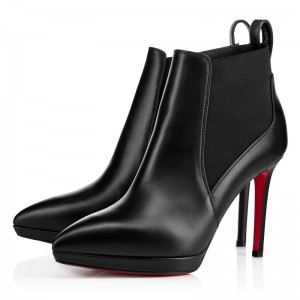 Christian Louboutin Crochinetta 100mm Leather Black