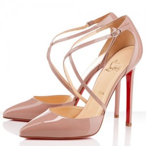 Christian Louboutin Crosspiga 120mm Pumps Nude