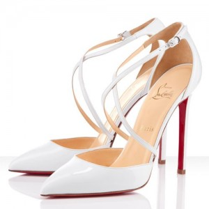 Christian Louboutin Crosspiga 120mm Pumps White