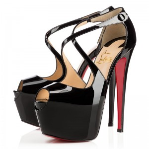Christian Louboutin Exagona 160mm Patent Black