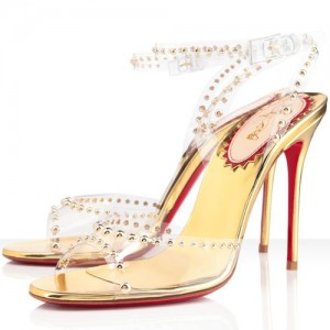 Christian Louboutin Icone A Clous 100mm PVC Sandals