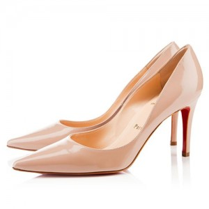 Christian Louboutin New Decoltissimo 85mm Patent Pumps Nude