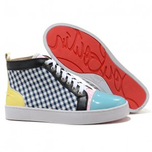 Christian Louboutin Rantus Orlato High Top Sneakers Blue