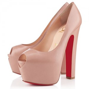 Christian Louboutin Shameless 160mm Peep Toe Pumps Nude