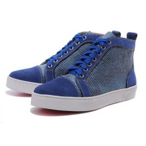 Men's Christian Louboutin Ablazely Apricot Sneakers Blue