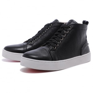 Men's Christian Louboutin High-Top Logo Printed Black