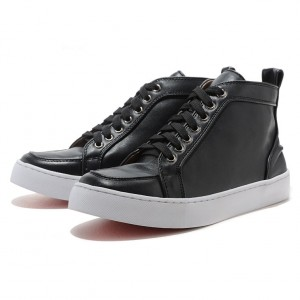 Men's Christian Louboutin High-Top Logo Printed Design Black