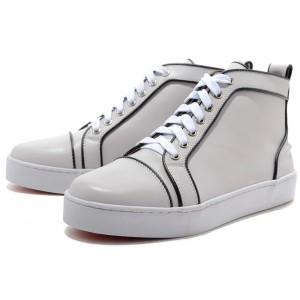 Men's Christian Louboutin Pony Sneakers White
