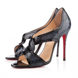 Christian Louboutin Suzanana 100mm Peep Toe Pumps Black
