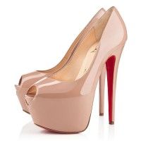 Christian Louboutin Highness 160mm Pumps Nude