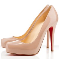 Christian Louboutin Rolando 120mm Patent Pumps Nude
