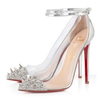 Christian Louboutin Just Picks 120mm PVC Pumps Silver