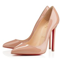 Christian Louboutin Pigalle 120 Patent Pumps Nude