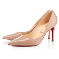 Christian Louboutin New Decoltissimo 85mm Leather Pumps Nude