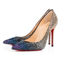 Christian Louboutin Decollete 554 100mm Strass Version Multi